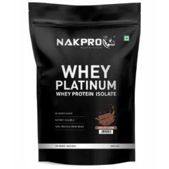 Nakpro Platinum 100% Whey Protein Isolate Supplement Powder