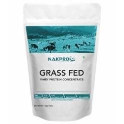 Nakpro Grass Fed Whey Protein Concentrate - 80% Pure Raw Supplement Powder