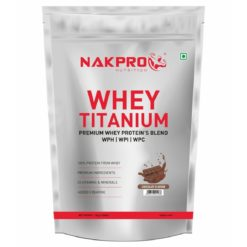 Nakpro Titanium Tri Blend Whey Protein - Hydrolyse, Isolate & Concentrate with Added Vitamins, Minerals & Creatine