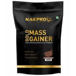 Nakpro Nutrition Gold Mass Gainer Protein Powder Supplement with Vitamin & Minerals