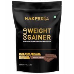 Nakpro Nutrition Gold Weight Gainer Protein Powder Supplement with Vitamin & Minerals