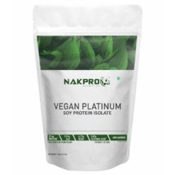 Nakpro Vegan Soy Protein Isolate 90% - Raw, Pure, Natural & Vegetarian Plant Protein Supplement Powder