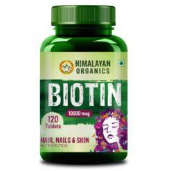 Himalayan Organics Biotin 10000mcg for Hair Growth