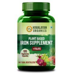 Himalayan Organics Plant Based Iron Supplement with Folic Acid - Blood Builder, Whole Food