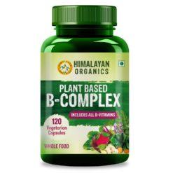 Himalayan Organics Plant Based B Complex Vitamins B12, B1, B3, B2, B9 and Biotin - Metabolism, Hair and Energy