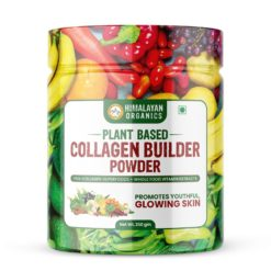 Himalayan Organics Plant Based Collagen Builder Powder - Skin Regeneration, Anti-Aging Beauty & Repair (with Sea Buckthorn, Acai Berry & 20 Wholefood)