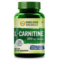 Himalayan Organics L Carnitine 2000mg -  Supports Muscle Recovery, Fat Burn & Energy