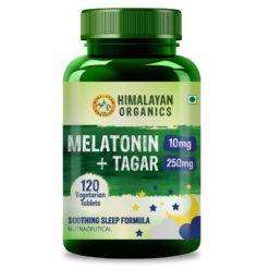 Himalayan Organics Melatonin 10mg + Tagar 250mg - Potent Sleep Aid Formula