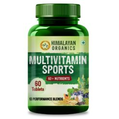 Himalayan Organics Men's Multivitamin Sports with 60 + Vital Nutrients & 14 Performance Blends with Probiotics