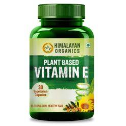 Himalayan Organics Plant Based Vitamin E Capsules (Non GMO Sunflower Oil, Aloevera Oil, Argan Oil)