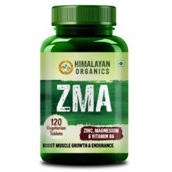 Himalayan Organics ZMA (Zinc, Magnesium Aspartate) - Nighttime Sports Recovery Supplement