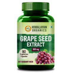 Himalayan Organics Grape Seed Extract 500mg - Healthy Cholesterol Level