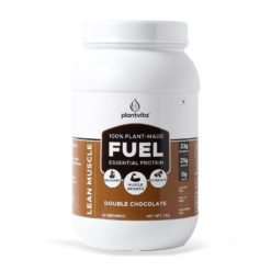PlantVita FUEL - Plant Protein For Lean Muscle Gain, 25g Protein, Turmeric Extract + Digestive Enzymes