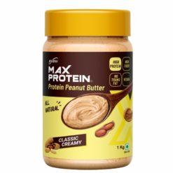 RiteBite Max Protein Peanut Spread - High Protein, High Fiber, Gluten Free, All Natural
