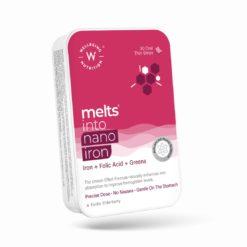 Wellbeing Nutrition Melts Nano Iron | Plant Based Iron, Beetroot, Swiss Chard, Pumpkin Seeds, Vitamin C and Folate