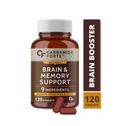 Carbamide Forte Brain Support Supplement for Memory & Focus with Brahmi Bacopa Monnieri, Ginkgo Biloba with Ashwagandha & Shankpushpi